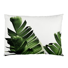 Green Banana Leaves Pillow Case by goljakoff