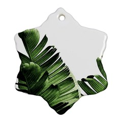 Green Banana Leaves Ornament (snowflake) by goljakoff