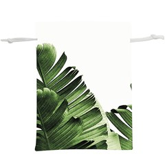 Green Banana Leaves  Lightweight Drawstring Pouch (xl) by goljakoff