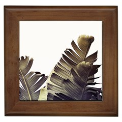 Vintage Banana Leaves Framed Tile by goljakoff