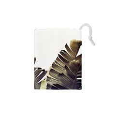 Vintage Banana Leaves Drawstring Pouch (xs) by goljakoff