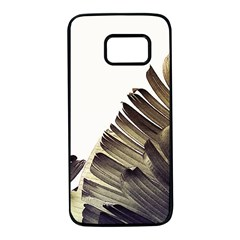 Vintage Banana Leaves Samsung Galaxy S7 Black Seamless Case by goljakoff