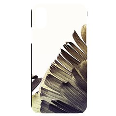Vintage Banana Leaves Iphone X/xs Black Uv Print Case by goljakoff