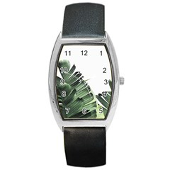 Banana Leaves Barrel Style Metal Watch by goljakoff