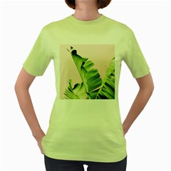 Palm Leaf Women s Green T-shirt by goljakoff