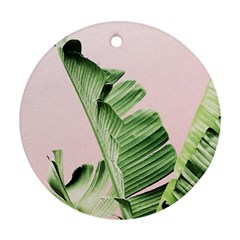 Palm Leaf Round Ornament (two Sides) by goljakoff