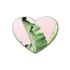 Palm Leaf Heart Coaster (4 Pack)  by goljakoff