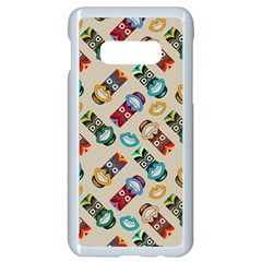 Ethnic Tribal Masks Samsung Galaxy S10e Seamless Case (white) by tmsartbazaar