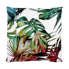 Watercolor Monstera Leaves Standard Cushion Case (one Side) by goljakoff