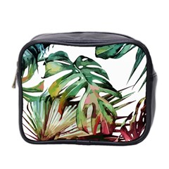 Watercolor Monstera Leaves Mini Toiletries Bag (two Sides) by goljakoff