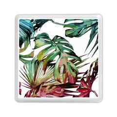 Watercolor Monstera Leaves Memory Card Reader (square) by goljakoff