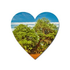Carob Tree, Talampaya National Park, La Rioja, Argentina Heart Magnet by dflcprintsclothing