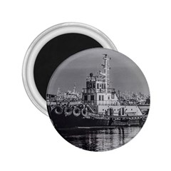 Tugboat At Port, Montevideo, Uruguay 2 25  Magnets by dflcprintsclothing