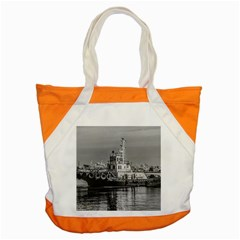 Tugboat At Port, Montevideo, Uruguay Accent Tote Bag by dflcprintsclothing