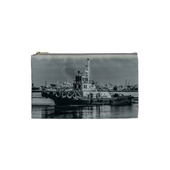 Tugboat At Port, Montevideo, Uruguay Cosmetic Bag (small) by dflcprintsclothing