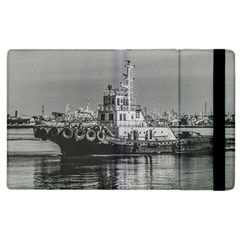 Tugboat At Port, Montevideo, Uruguay Apple Ipad 2 Flip Case by dflcprintsclothing