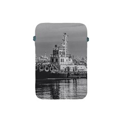 Tugboat At Port, Montevideo, Uruguay Apple Ipad Mini Protective Soft Cases by dflcprintsclothing