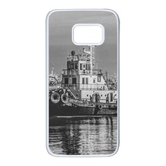 Tugboat At Port, Montevideo, Uruguay Samsung Galaxy S7 White Seamless Case by dflcprintsclothing