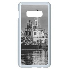 Tugboat At Port, Montevideo, Uruguay Samsung Galaxy S10e Seamless Case (white) by dflcprintsclothing