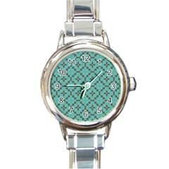Tiles Round Italian Charm Watch by Sobalvarro