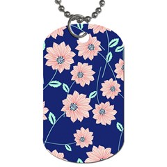 Floral Dog Tag (two Sides) by Sobalvarro