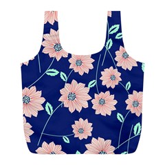 Floral Full Print Recycle Bag (l) by Sobalvarro