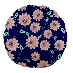 Floral Large 18  Premium Flano Round Cushions by Sobalvarro