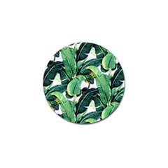 Tropical Banana Leaves Golf Ball Marker (4 Pack) by goljakoff