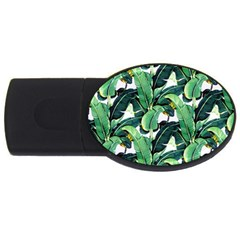 Tropical Banana Leaves Usb Flash Drive Oval (4 Gb) by goljakoff