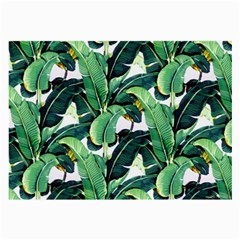 Tropical Banana Leaves Large Glasses Cloth (2 Sides) by goljakoff