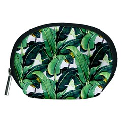 Tropical Banana Leaves Accessory Pouch (medium) by goljakoff