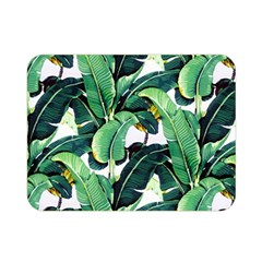 Tropical Banana Leaves Double Sided Flano Blanket (mini)  by goljakoff