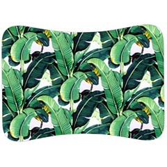 Tropical Banana Leaves Velour Seat Head Rest Cushion by goljakoff