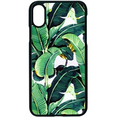 Tropical Banana Leaves Iphone Xs Seamless Case (black)