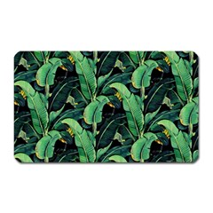 Night Tropical Banana Leaves Magnet (rectangular) by goljakoff