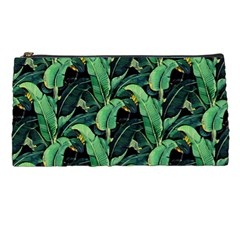 Night Tropical Banana Leaves Pencil Case by goljakoff