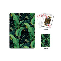 Night Tropical Banana Leaves Playing Cards Single Design (mini) by goljakoff