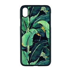 Night Tropical Banana Leaves Iphone Xr Seamless Case (black) by goljakoff