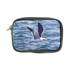 Seagull Flying Over Sea, Montevideo, Uruguay Coin Purse by dflcprintsclothing