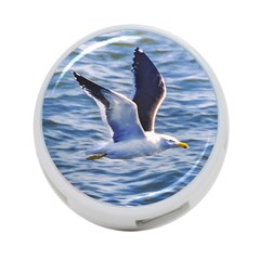 Seagull Flying Over Sea, Montevideo, Uruguay 4-port Usb Hub (one Side) by dflcprintsclothing