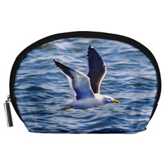 Seagull Flying Over Sea, Montevideo, Uruguay Accessory Pouch (large) by dflcprintsclothing
