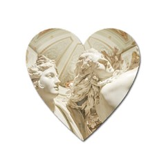 Apollo And Daphne Bernini Masterpiece, Italy Heart Magnet by dflcprintsclothing