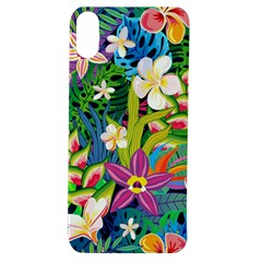 Colorful Floral Pattern Apple Iphone Xs Tpu Uv Case