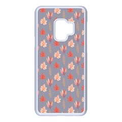 Auntumn Pretty Leaves Pattern Samsung Galaxy S9 Seamless Case(white)