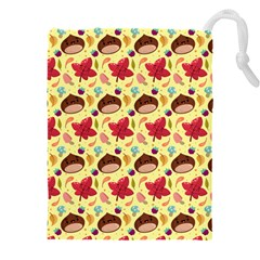 Cute Leaf Pattern Drawstring Pouch (5xl)