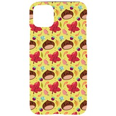 Cute Leaf Pattern Iphone 11 Pro Max Black Uv Print Case