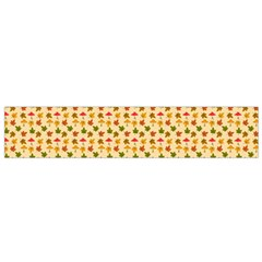 Autumn Leaves Tile Small Flano Scarf