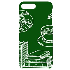 Books And Baked Goods Pattern Iphone 7/8 Plus Black Uv Print Case