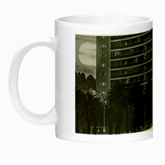 Sunset Coastal Urban Scene, Montevideo, Uruguay Night Luminous Mugs by dflcprintsclothing
