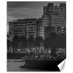 Sunset Coastal Urban Scene, Montevideo, Uruguay Canvas 8  X 10  by dflcprintsclothing